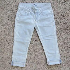 NWOT Bebe Cropped Acid Washed Jeans Size 29